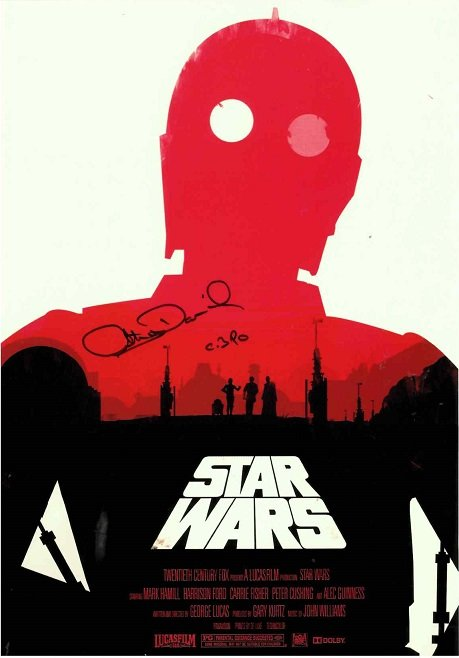 Anthony Daniels Autographs C-3PO Star Wars