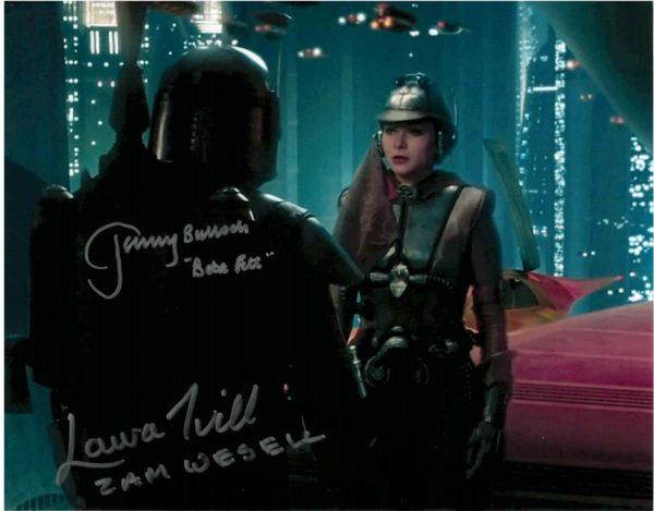 Jeremy Bulloch Boba Fett Laura Ivill Zam Wesell Star Wars Autographs 8x10