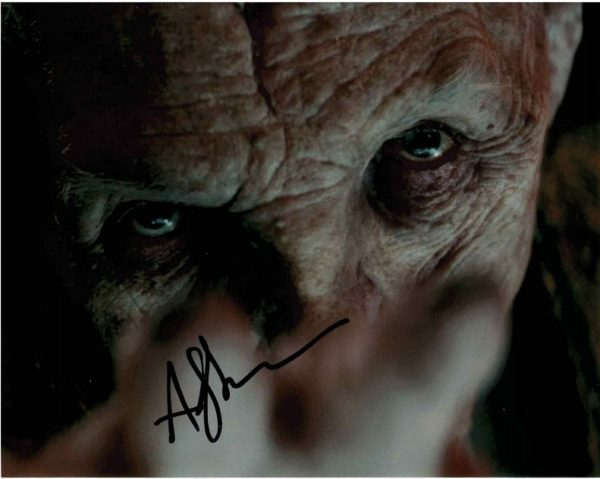Andy Serkis Snoke Autograph 8x10 photo - Star Wars