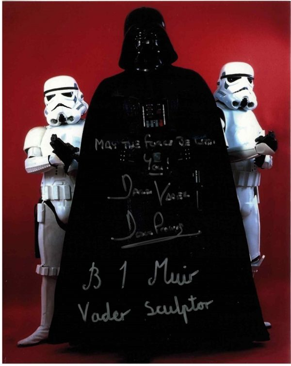 DAVE PROWSE AND BRIAN MUIR AUTOGRAPH