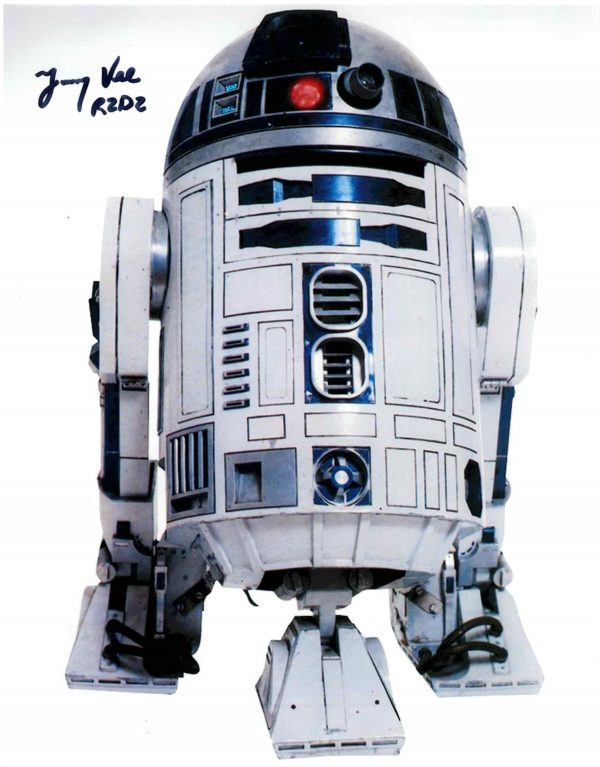 Authentic Jimmy Vee Autograph for sale r2-d2.
