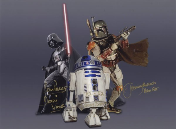 Dave Prowse Jeremy Bulloch and Kenny Baker autographs