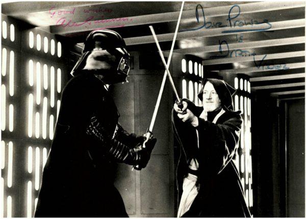 Alec Guinness Autograph | Obi Wan Kenobi Dave Prowse Darth Vader