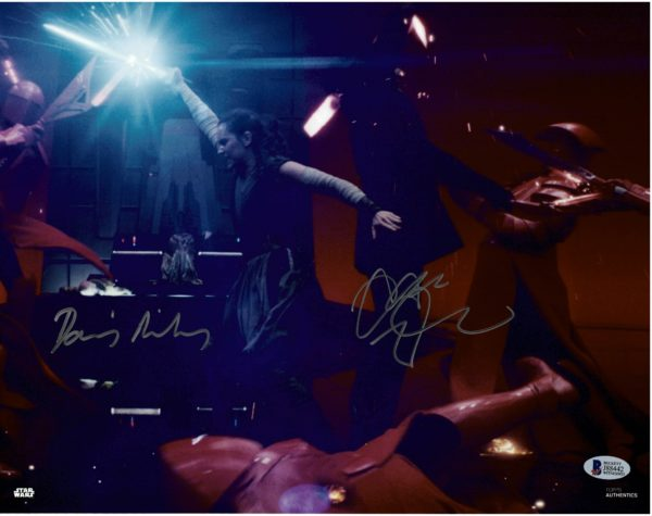 Daisy Ridley and Adam Driver Autographs | Rey Kylo Ren signed photo