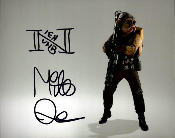 Mike Quinn Nien Nunb Autographs Star Wars Puppeteer