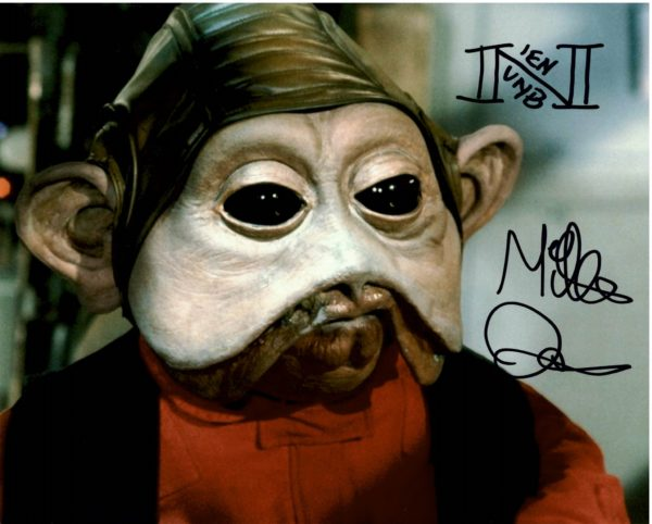 Mike Quinn Nien Nunb Autographs Star Wars