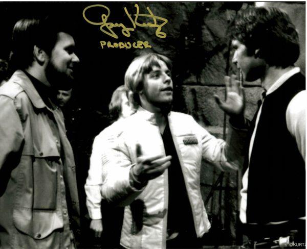 Gary Kurtz Autograph w/Mark Hamill and Harrison Ford