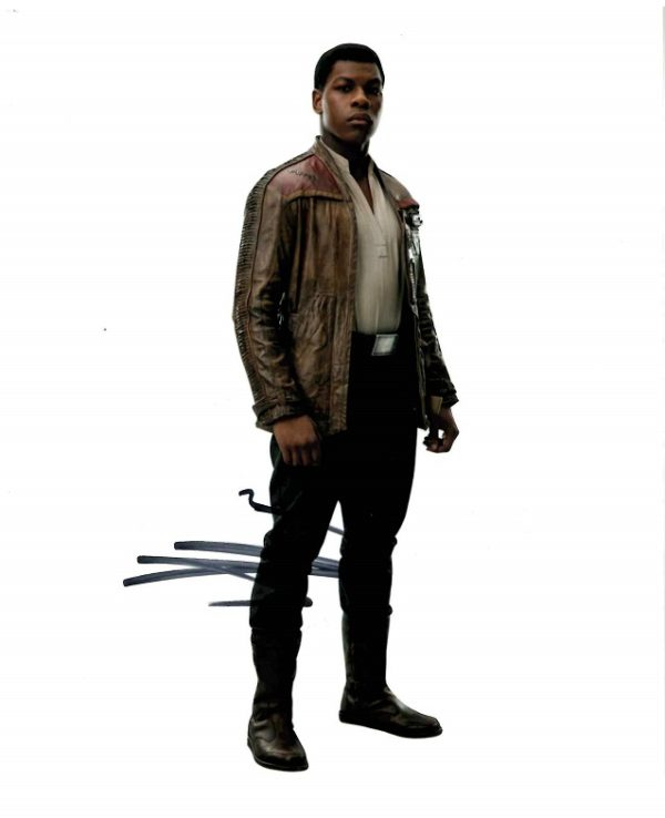 John Boyega Autograph as Finn from Star Wars 8x10