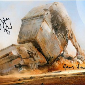 Authentic Julian Glover Autograph AT-AT 8x10 Photo Star Wars 2