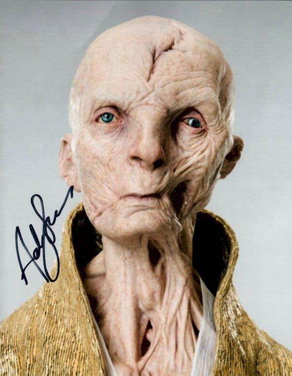 Andy Serkis Autographs 8x10 photo - Snoke Star Wars
