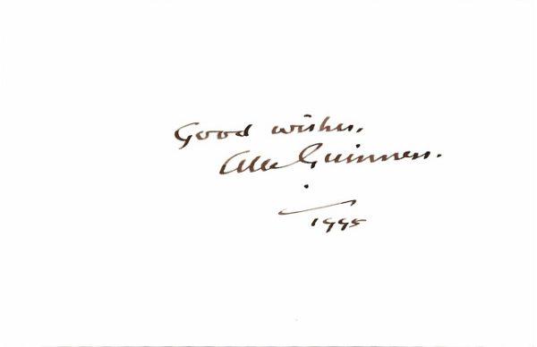 Alec Guinness Autograph | Obi Wan Kenobi