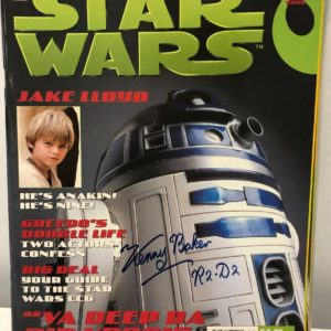Authentic Kenny Baker Autograph Star Wars Magazine
