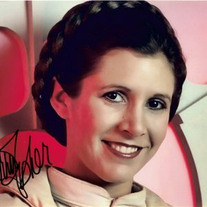 Carrie Fisher Autographs Princess Leia Star Wars 12x8 photograph