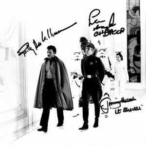 empire strikes back autographs star wars - peter mayhew, billy dee williams, jeremy bulloch