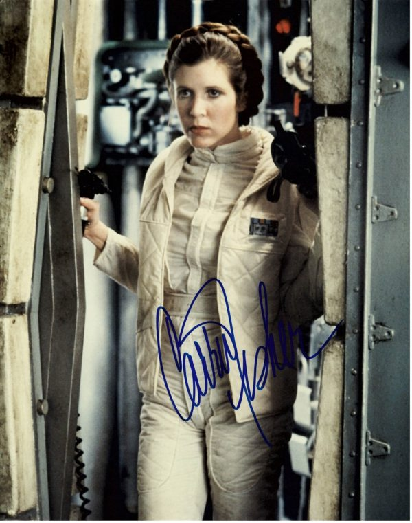Princess Leia signed photograph Carrie Fisher autograph | Star Wars