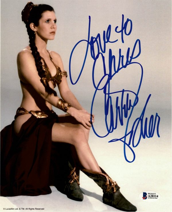 Carrie Fisher signed Princess Leia photograph Star Wars 8x10