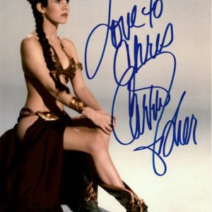 Carrie Fisher signed autograph 8x10 6