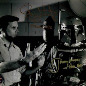Gary Kurtz Jeremy Bulloch autographed 8x10 1