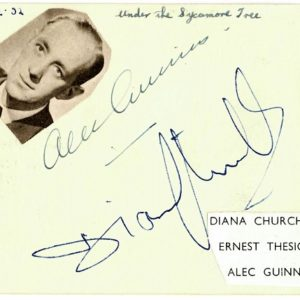 Alec Guinness autograph star wars