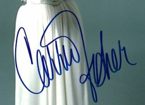 Carrie Fisher autographs princess leia 1