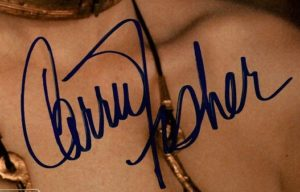 Carrie Fisher star wars autographs princess leia 2