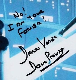 Dave Prowse autographs Darth Vader star wars