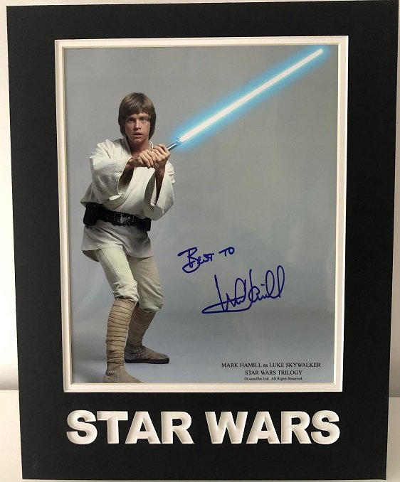 mark hamill autograph luke skywalker