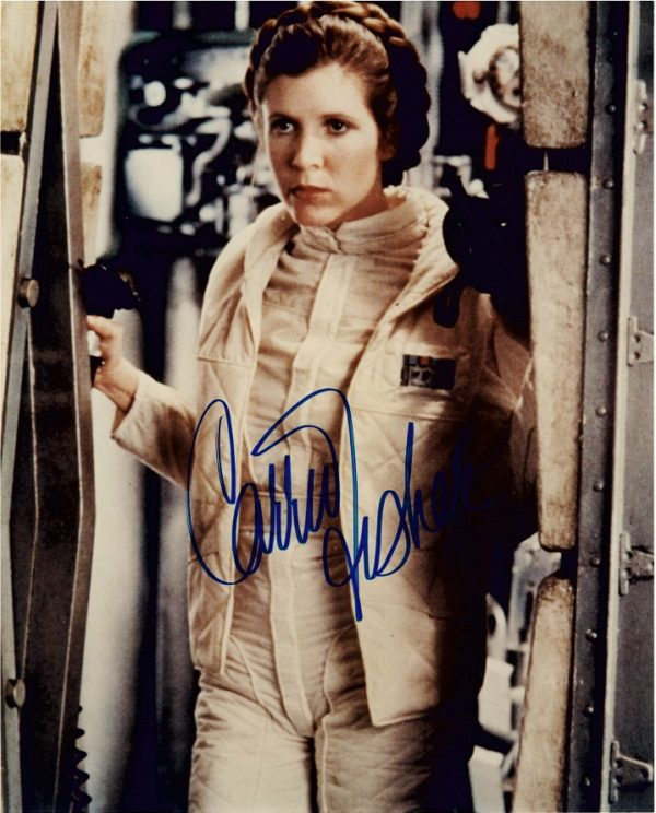 Authentic Carrie Fisher autograph star wars