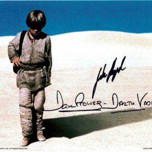 Dave Prowse Jake Lloyd autographs 8x10 1