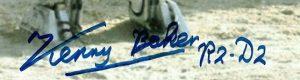 Kenny Baker autographs r2-d2