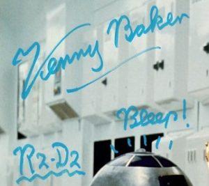 Kenny Baker r2d2 star wars autographs