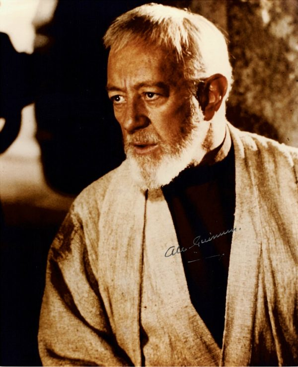 Authentic Alec Guinness signed Obi Wan Kenobi