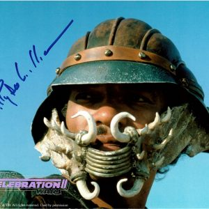 Billy Dee Williams signed Star Wars Celebration 2 photo