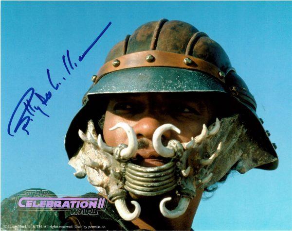 Billy Dee Williams signed Star Wars Celebration 2 photo