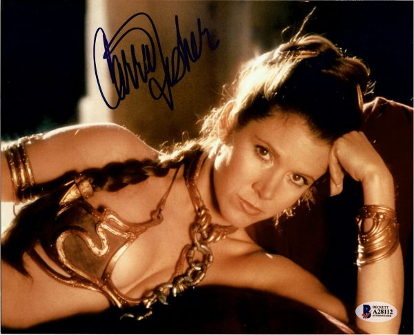 Carrie Fisher Autographed Star Wars Princess Leia photo