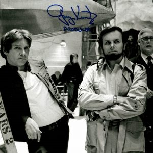 Gary Kurtz signed photo with Harrison Ford star wars
