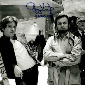 Gary Kurtz signed photo with Harrison Ford star wars