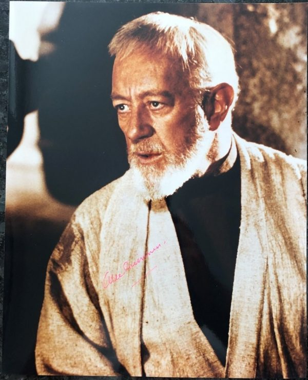 Alec Guinness Autographed Star Wars Photo as Obi Wan Kenobi
