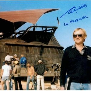 Robert Watts autograph Star Wars Co-Producer photograph Barge