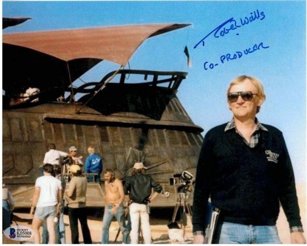 Robert Watts autograph Star Wars Co-Producer photograph Barge