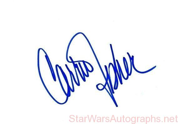 Carrie Fisher cut signature on card | Princess Leia Star Wars