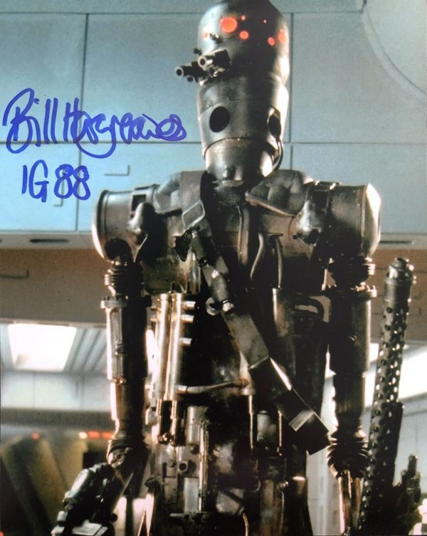Bill Hargreaves autographed IG88 Photograph Star Wars