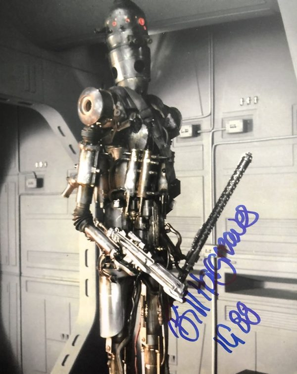 Bill Hargreaves signed IG88 Photograph Star Wars