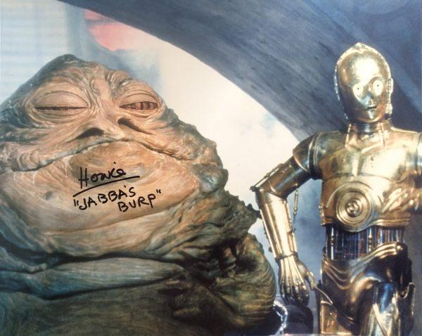 Howie Hammerman signed Jabba The Hutt Burp photo Star Wars