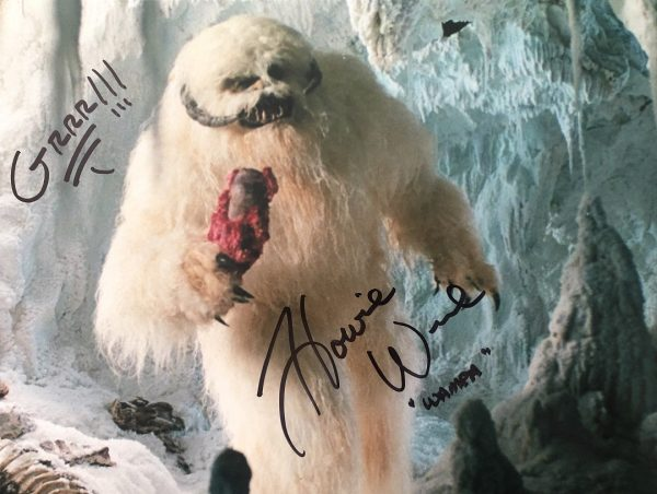 Howie Weed autograph photo Wampa Star Wars 16x12""