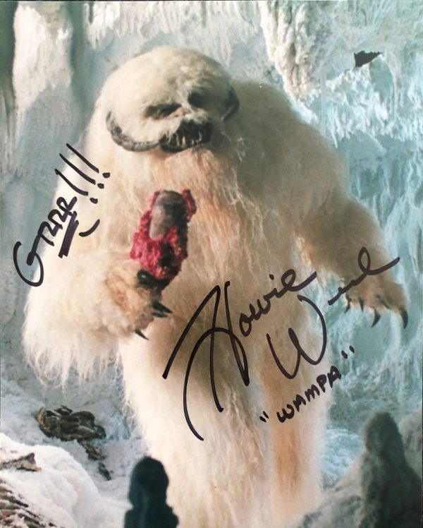 """Howie Weed signed Wampa photograph Star Wars 8x10"""" - 1"""