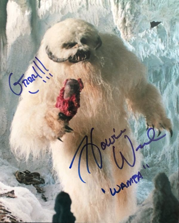 """Howie Weed Autographed Wampa photograph Star Wars 8x10"""" - 3"""