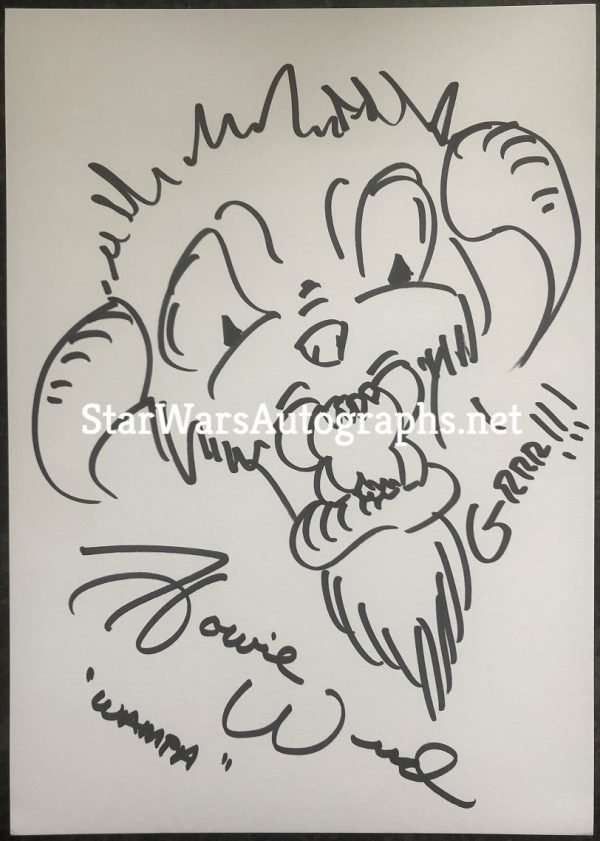 Howie Weed Sketch Wampa 1 Hand drawn and signed