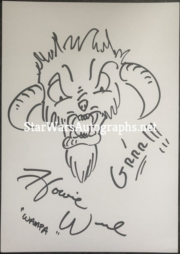 Howie Weed Sketch Wampa 2 Hand drawn and signed