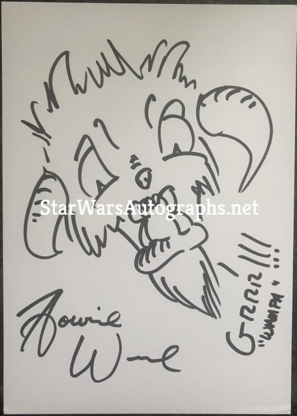 Howie Weed Sketch Wampa 3 Hand drawn and signed